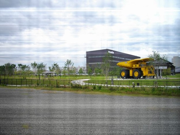 小松駅構内からコマツ小松工場跡地