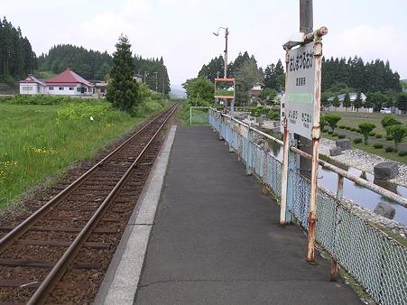 渡島鶴岡駅ホーム1