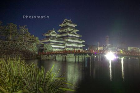 夜の松本城HDR