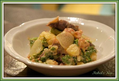 ホタルイカと菜の花のサラダ
