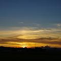 写真: 近所の夕焼け
