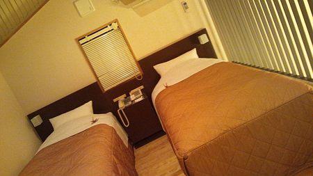 コテージのベッド