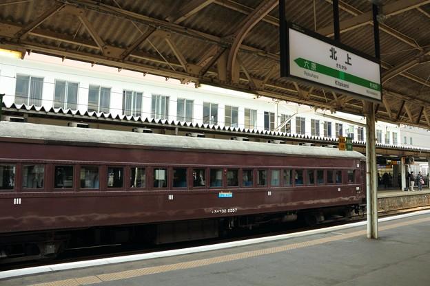 旧客と北上駅