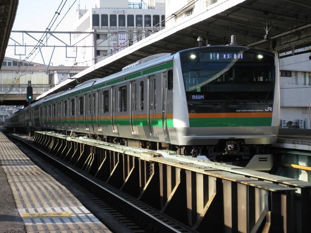 東海道線E233系15両編成 in戸塚(到着シーン)
