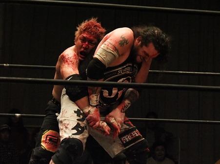 竹田誠志vsMASADA  FREEDOMS 葛西純プロデュース興行 Blood X'mas 2011 (8)