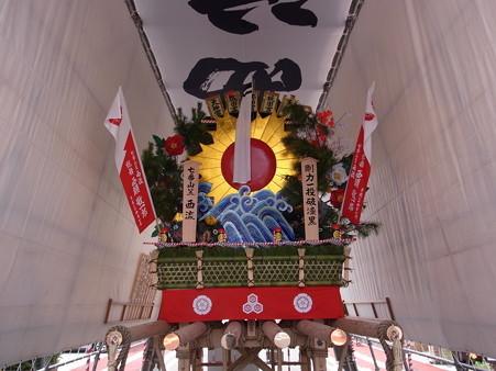 36 博多祇園山笠 西流 舁き山 剛力一投破漆黒(ごうりきいっとうしっこくをやぶる)2012年 写真画像13