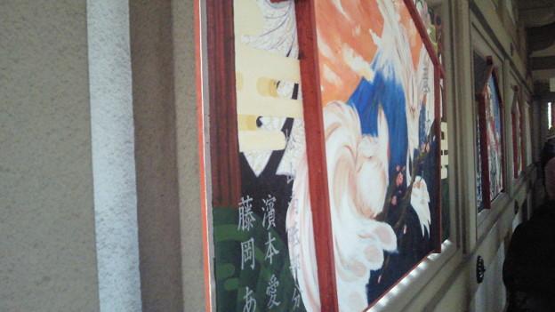 写真: 椿まつり 壁画
