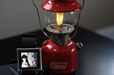 2012.01.21 机 nanoとSHalf size lantern ColemanR Model 200A