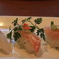 味市場「ヒラメカルパッチョ 握り寿司」