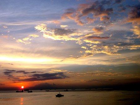 Manila Bay Sunset マニラ湾夕陽