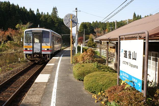 JR西日本 道後山駅 キハ120