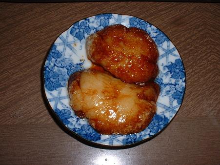 「今日の甘いもの」その96 「揚げ おもち (砂糖しょうゆ)」Doburoku-TAO