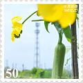 <花切手*ヘチマの花 on 世界郵便>